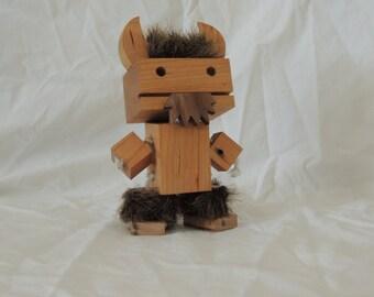 Wooden Viking Robot...with a beard