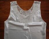 women's vintage white lace tank.