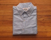 mens vintage University oxford button down shirt
