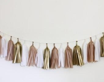 Tissue Tassel Garland Kit - Golden