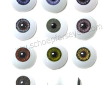 22mm Glastic Realistic Acrylic Doll Eyes - One Pair