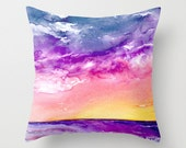 Decorative Pillow Cover - Ocean Painting - Throw Pillow Cushion - Fine Art Home Decor