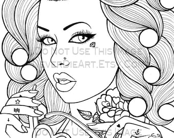 Digital Download Print Your Own Coloring Book Outline Page - Skittles by Carissa Rose