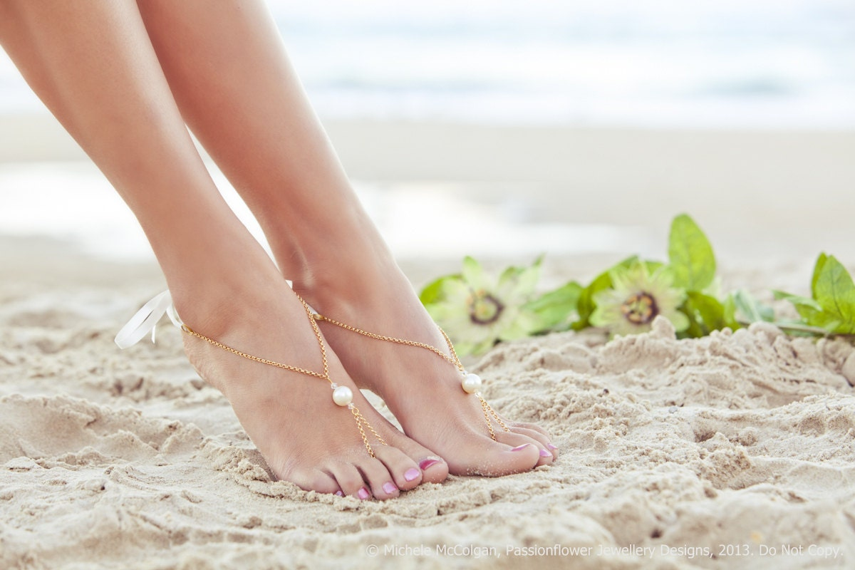 Bridal Beach Shoes Foot Jewelry Beach Wedding Barefoot