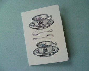 Vintage Teacups art card