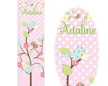 SALE :) Canvas Growth Chart -Bird Personalized Growth Chart