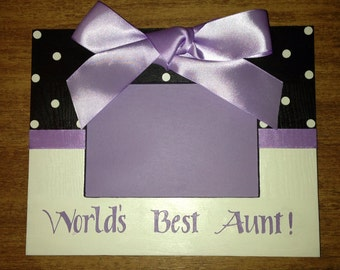 Picture Frame Personalized Aunt