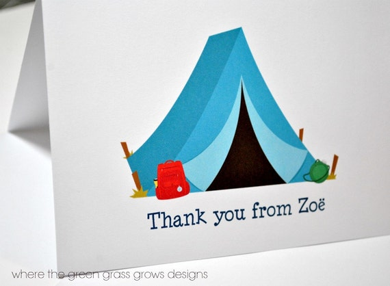 Camping Thank you Cards