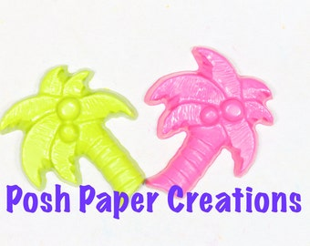 6 Palm tree crayons -  in cello bag tied with ribbon - choose your colors