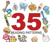 Brick Stitch Earrings & Charms Beadind Pattern Collection