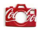 Coca Cola Camera - Magnet or Christmas Ornament - Recycled soda can.