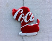 Dog - Coca Cola Magnet or Christmas Ornament - Recycled soda can.