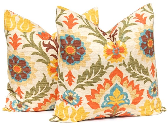 Fall Pillows Decorative Throw Pillow Cover One by FestiveHomeDecor