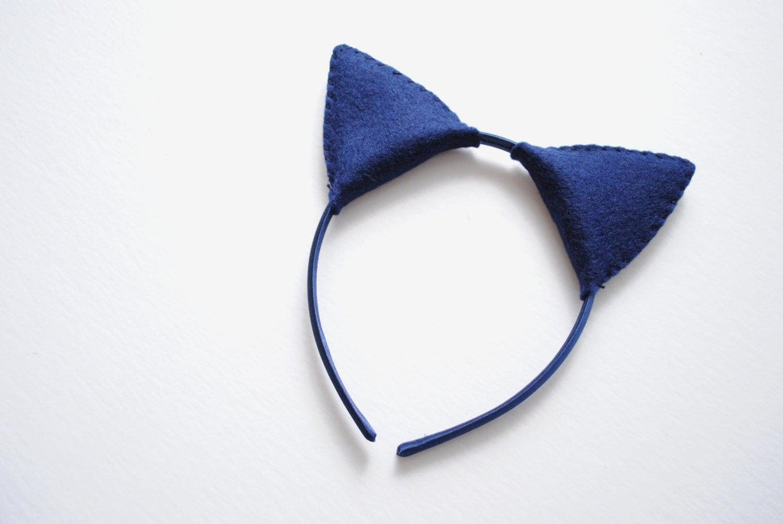 Royal Blue Cat Ears