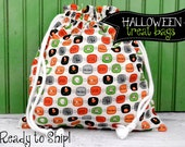 HALLOWEEN Trick or Treat Candy Bag in White Mini Boo from Boo to You by Riley Blake Designs
