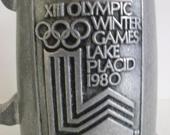 Vintage 1980 Olympic Winter Games Pewter Cup