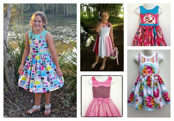 Ainslee Fox Disco Party Dress size 1 to 12 years Girls Dress
