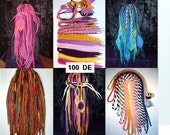 Custom 100 DE Wool Dreads with Extras and Shaped Enders