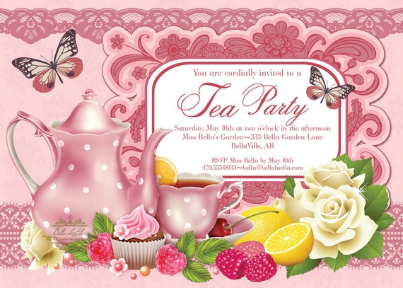 Tea Party Invitation Bridal Tea Party Garden Tea Party – Invitation for Tea Party