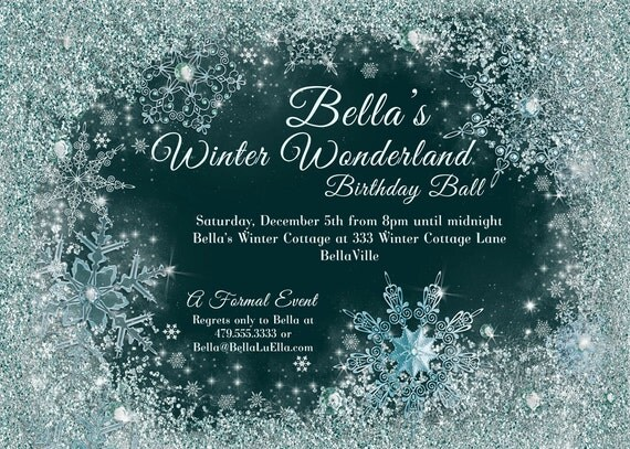winter wonderland party winter snowflake ball invitation, free winter wonderland party invitations, winter wonderland 1st birthday party invitations, winter wonderland birthday party invitations wording
