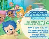 Bubble Guppies Invitation, Bubble Guppies Birthday Invitations, Bubble Guppies Party Printables