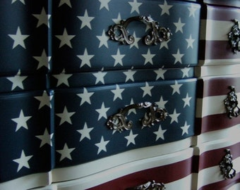 "The ""Waving"" American Flag Dresser"