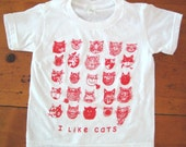 Red Cats Baby Tshirt