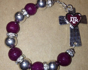 Texas A&M Cross Bracelet