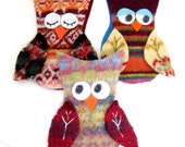 3 Owl Ornaments for Kristin