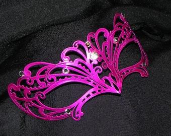 Petite Metallic Masquerade Mask