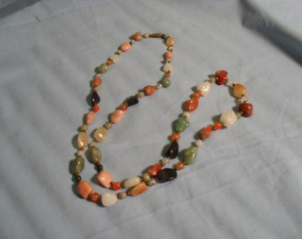 Rock and Bead Necklace