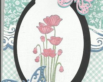 A poppy Happy Birthday card