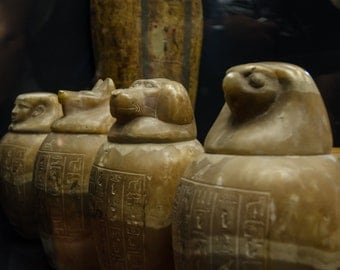 Rome 24 - Vatican Museum Canopic Jars - Travel Photography - Wall Décor