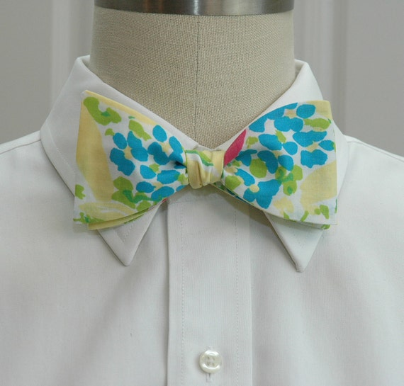 Lilly Bow Tie in Blue eyed girl multi  (self-tie)
