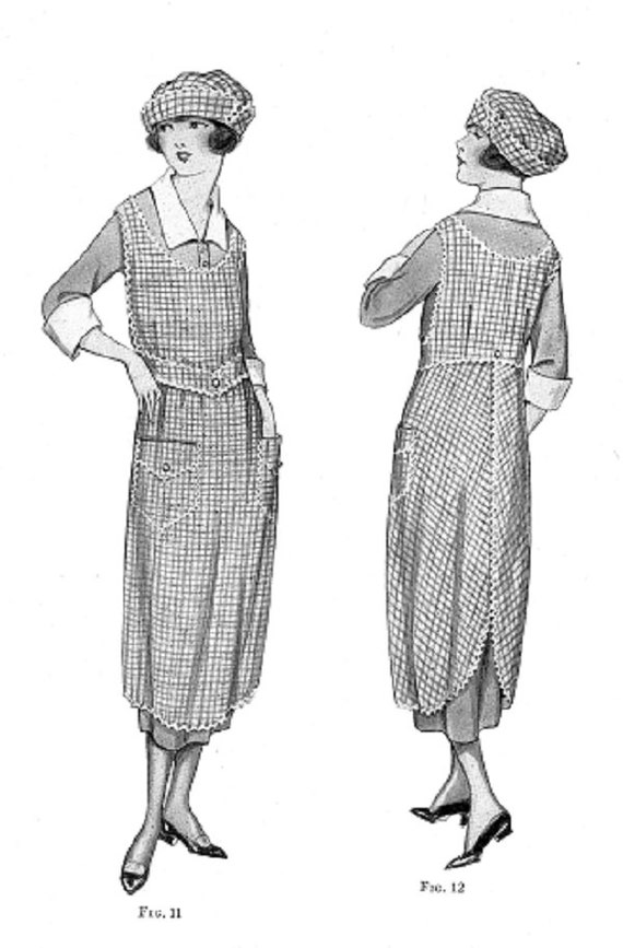 Vintage Aprons, Retro Aprons, Old Fashioned Aprons & Patterns 1910s-1920s Aprons and Caps eBooks - Womans Institute of Domestic Arts & Sciences Book Reproductions - .pdf  for Download - Apron Pattern $2.50 AT vintagedancer.com