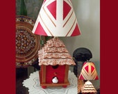 Birdhouse Table Lamp and Matching Shade