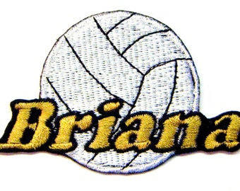 Iron on Patch Volleyball Name Personalized Free