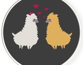 Instant download,free shipping,Cross stitch pattern, Crossstitch PDF,Alpaca llamas in love ,zxxc0398