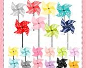 50%SALE, Pinwheel clip art, pinwheels clip art, baby shower clip art, instant download clip art