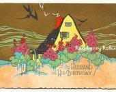 Birthday cards, Vintage 1930, Dance card, Birthday cards, Cottage Garden, House and garden, vintage ephemera