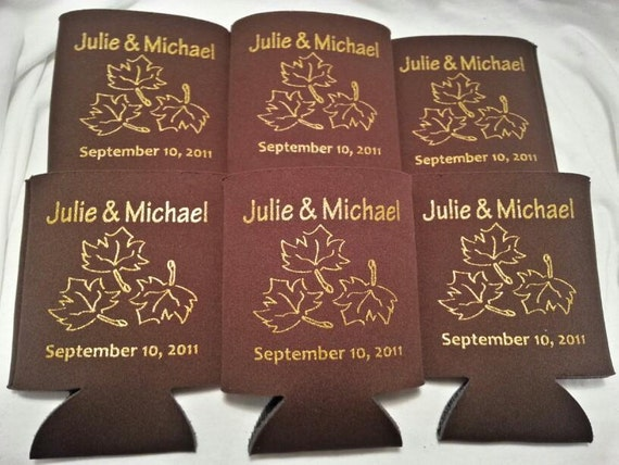 fall wedding favor can holders