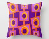 Crash Pad Designs, Orange and Purple Throw Pillow