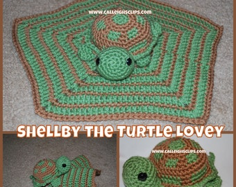 Instant Download Crochet Pattern No. 99  - Shellby The Turtle Lovey