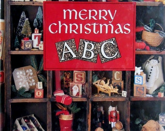 Merry Christmas ABC Book Six Cross Stitch Pattern Hardback Book- Leisure Arts Presents Christmas Remembered Book Six