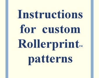 Instructions for making a custom pattern