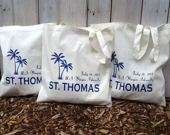 50 Custom Wedding Tote Bags - Eco-Friendly Natural Cotton Canvas