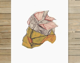 Rock Abstraction II | 9 x 12 inch Art Print | mineral art hipster