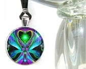 "Twin Flames Necklace, Soulmate Love, Angel Hearts, Reiki Energy ""Unconditional Love"""