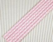 Paper Straws - pink polka dot(12)