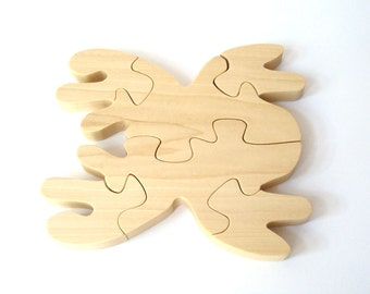 Wood Spider Puzzle Waldorf Wooden Toy Nature Puzzle Childrens Wood Science Toy Educational Puzzle Poplar Hand Cut Scroll Saw